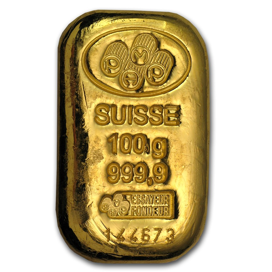 Gold Bar Recognised 100g