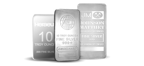 10 oz Assorted Recognised Silver Bar